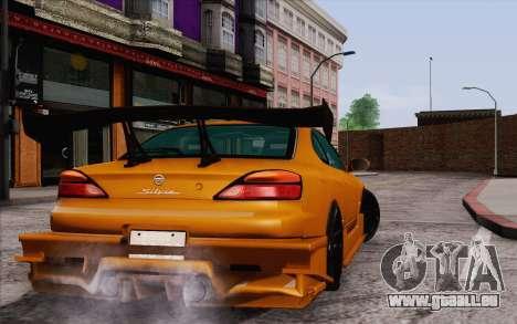 Nissan Silvia S15 GT Uras pour GTA San Andreas sur la vue arrière gauche