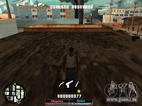Cleo Hud Cameron Rosewood für GTA San Andreas