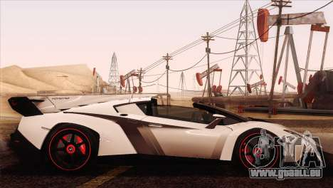 Lamborghini Veneno Roadster LP750-4 2014 pour GTA San Andreas vue de côté