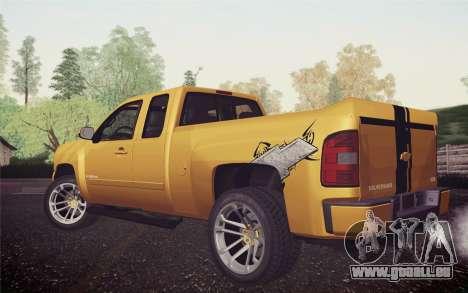 Chevrolet Silverado 2500 LTZ pour GTA San Andreas laissé vue