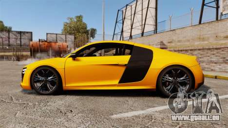 Audi R8 V10 plus Coupe 2014 [EPM] [Update] für GTA 4 linke Ansicht
