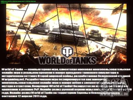 Boot-screen World of Tanks für GTA San Andreas fünften Screenshot