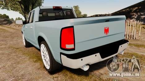 Dodge Ram 3500 Heavy Duty pour GTA 4 Vue arrière de la gauche
