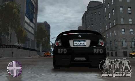 Holden Monaro CV8-R Police für GTA 4 Seitenansicht