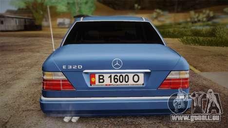 Mercedes-Benz E320 W124 für GTA San Andreas Rückansicht