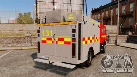 Scania 94D 260 BAS1 Stockholm Fire Brigade [ELS] für GTA 4 hinten links Ansicht