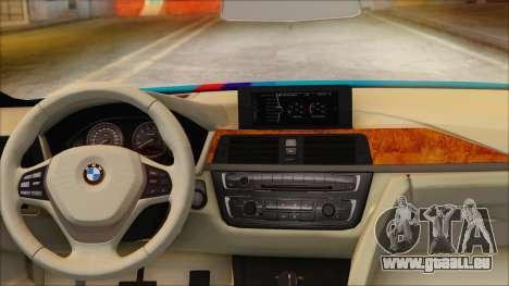 BMW 328d 2014 für GTA San Andreas zurück linke Ansicht