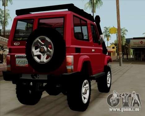 Toyota Land Cruiser Machito 2009 LX für GTA San Andreas rechten Ansicht