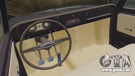 Chevrolet C10 1974 pour GTA 4 est une vue de l'intérieur
