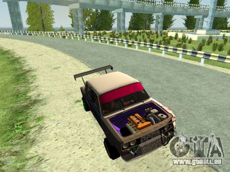 VAZ 2106 pour GTA San Andreas laissé vue