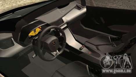 Lamborghini Veneno Roadster LP750-4 2014 pour GTA San Andreas vue de dessous