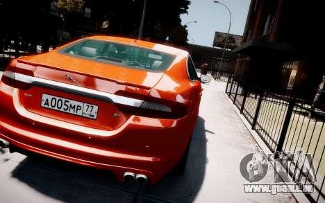 Jaguar XF-R 2012 v1.1 für GTA 4 obere Ansicht