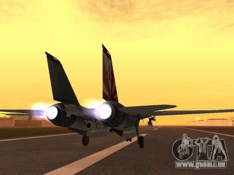 F-14 LQ für GTA San Andreas zurück linke Ansicht