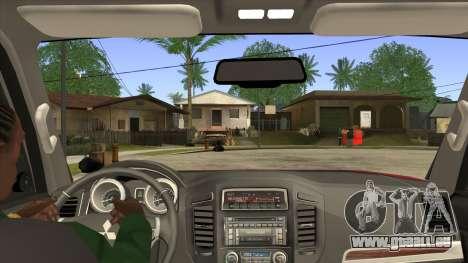 Mitsubishii Pajero IV pour GTA San Andreas vue intérieure