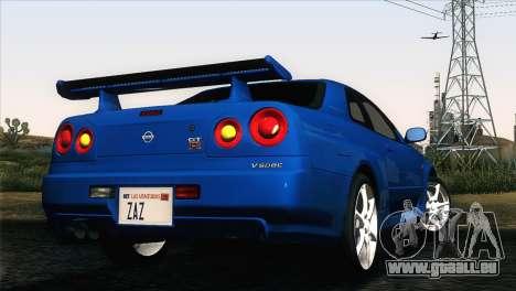 Nissan Skyline GT-R R34 V-Spec für GTA San Andreas linke Ansicht
