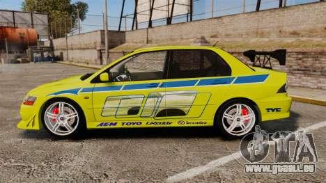 Mitsubishi Lancer Evolution VII 2002 für GTA 4 linke Ansicht