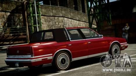 Chrysler New Yorker 1988 pour GTA 4 est une gauche