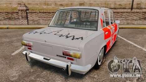 VAZ-Lada 2101 URSS pour GTA 4 Vue arrière de la gauche