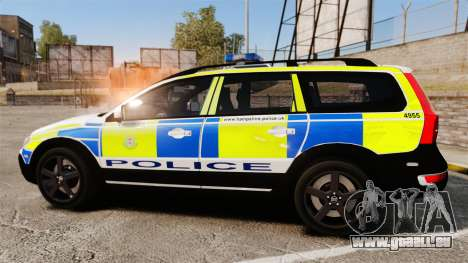 Volvo XC70 2014 Police [ELS] für GTA 4 linke Ansicht
