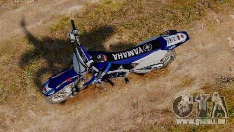 Kawasaki KX250F (Yamaha) pour GTA 4 est un droit