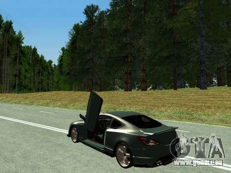 Hyundai Genesis Coupe pour GTA San Andreas sur la vue arrière gauche