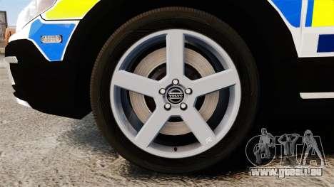 Volvo XC70 2014 Police [ELS] für GTA 4 Rückansicht