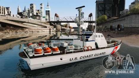 Канонерская bateau U.S. Coastguard pour GTA 4 est une gauche