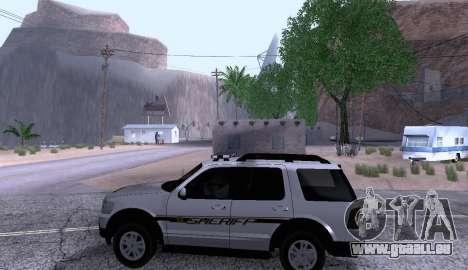 Ford Explorer Sheriff 2010 pour GTA San Andreas laissé vue