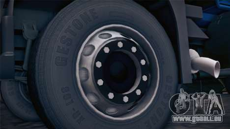 Volvo FM12 8X4 Dumper pour GTA San Andreas sur la vue arrière gauche