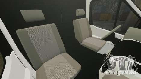 Mercedes-Benz Sprinter 211 CDI Police [ELS] pour GTA 4 est une vue de l'intérieur