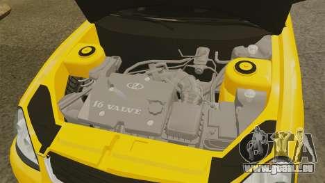 VAZ-Lada 2170 Priora pour GTA 4 est une vue de l'intérieur