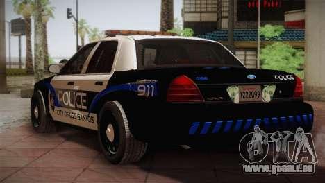 Ford Crown Victoria Police Interceptor 2009 für GTA San Andreas rechten Ansicht