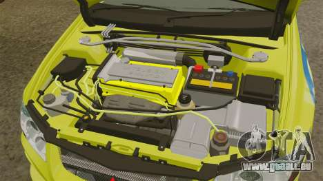 Mitsubishi Lancer Evolution VII 2002 für GTA 4 Rückansicht