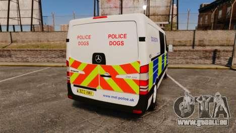 Mercedes-Benz Sprinter 211 CDI Police [ELS] pour GTA 4 Vue arrière de la gauche