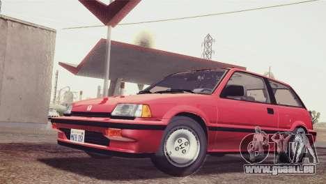 Honda Civic Si 1986 HQLM für GTA San Andreas zurück linke Ansicht