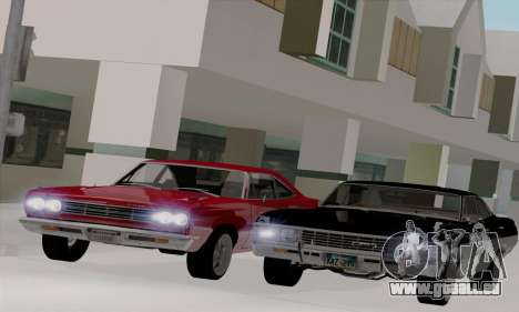 Plymouth Road Runner 383 1969 pour GTA San Andreas vue arrière