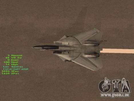 F-14 LQ für GTA San Andreas Innen