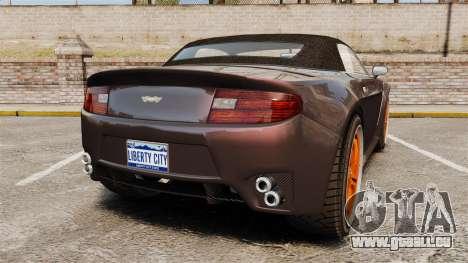 GTA V Dewbauchee Rapid GT für GTA 4 hinten links Ansicht