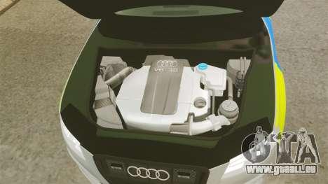 Audi S4 2013 Metropolitan Police [ELS] pour GTA 4 est une vue de l'intérieur