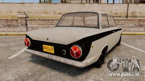 Lotus Cortina 1963 pour GTA 4 Vue arrière de la gauche