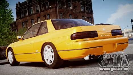 Nissan 240sx Mal de 1992 pour GTA 4 Vue arrière de la gauche