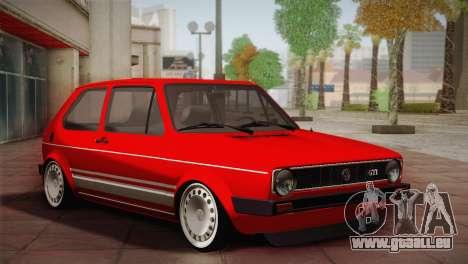 Volkswagen Golf MK1 Red Vintage pour GTA San Andreas