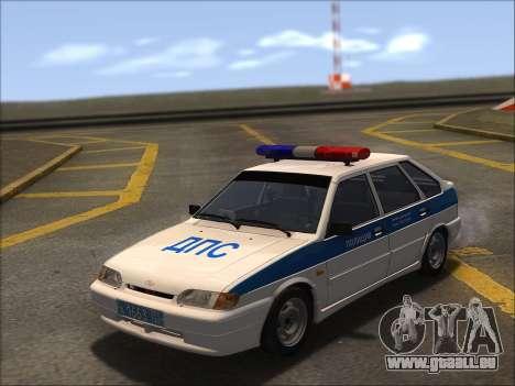 VAZ 2114 Police DPS pour GTA San Andreas vue de côté