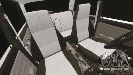 AIDE-Lada 2107 pour GTA 4 vue de dessus