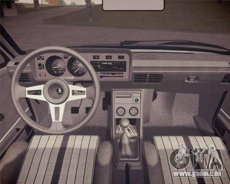 Volkswagen Scirocco S (Typ 53) 1981 HQLM pour GTA San Andreas vue arrière