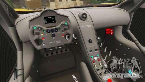 McLaren MP4-12C GT3 pour GTA 4 Vue arrière