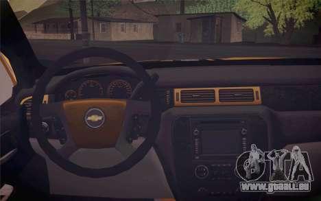 Chevrolet Silverado 2500 LTZ pour GTA San Andreas vue de droite