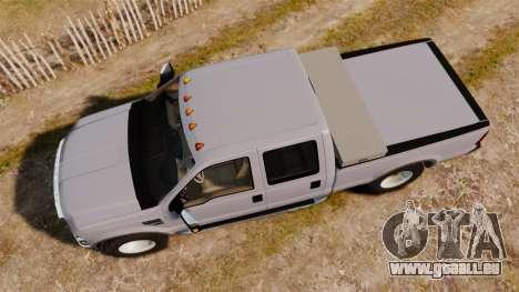 Ford F-250 Super Duty Police Unmarked [ELS] für GTA 4 rechte Ansicht