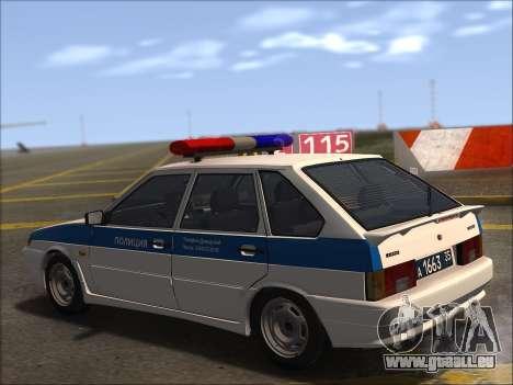 VAZ 2114 Police DPS pour GTA San Andreas vue de dessus