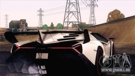 Lamborghini Veneno Roadster LP750-4 2014 für GTA San Andreas Innenansicht
